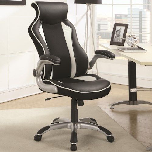 Coaster Office Chairs Office Task Chair with Race Car Seat Design