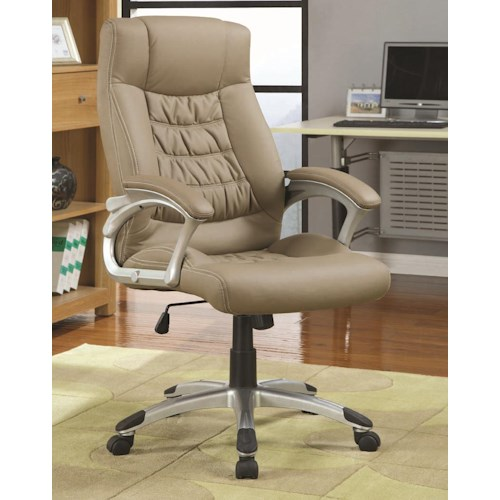 Coaster Office Chairs Contemporary Upholstered Executive Chair