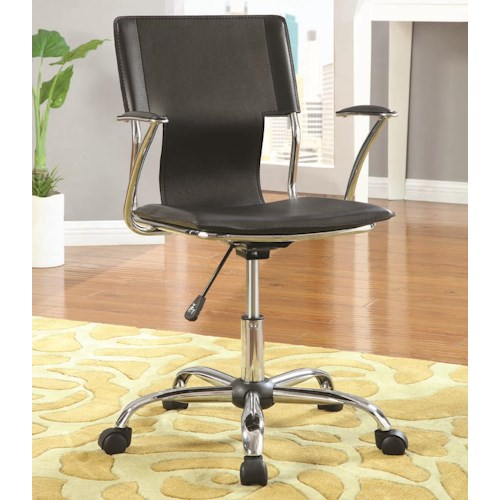 Coaster Office Chairs Contemporary Adjustable Height Black Task Chair