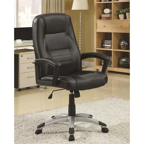 Coaster Office Chairs Executive Office Chair with Adjustable Seat Height