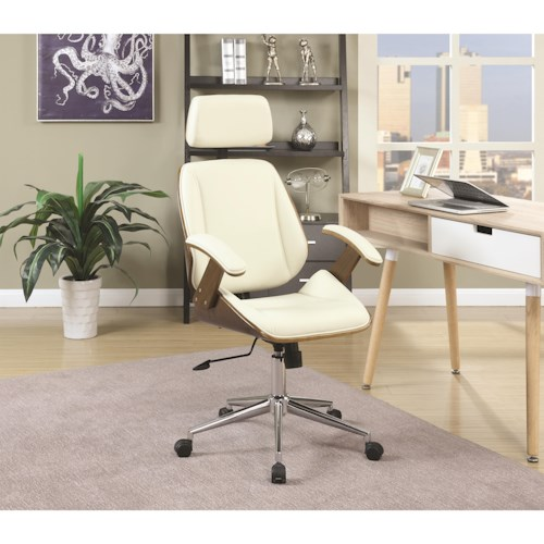 Coaster Office Chairs Mid-Century Modern Office Chair