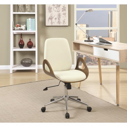 Coaster Office Chairs Office Chair with Mid-Century Modern Design
