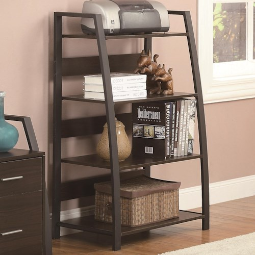 Coaster Office Group Open Bookcase with 4 Shelves