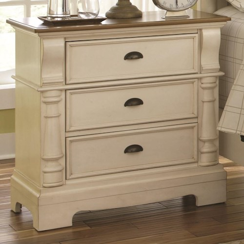 Coaster Oleta Night Stand with 3 Drawers and Bracket Feet