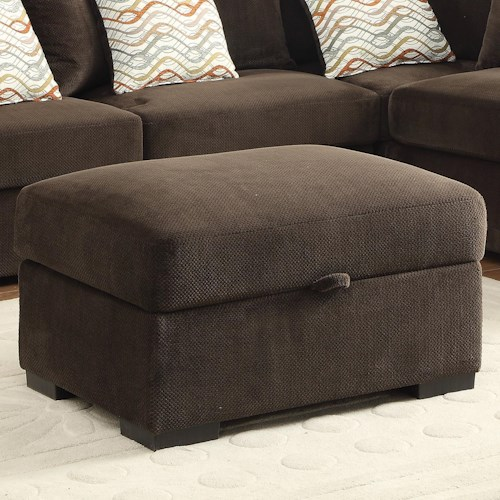 Coaster Olson Rectangular Storage Ottoman