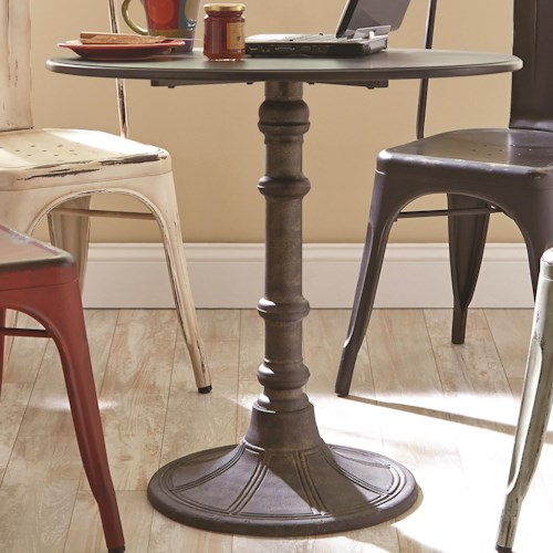 Coaster Oswego Round Industrial Bistro Table