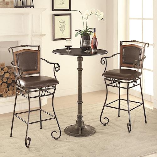 Coaster Oswego Pub Table Set with Bar Stools