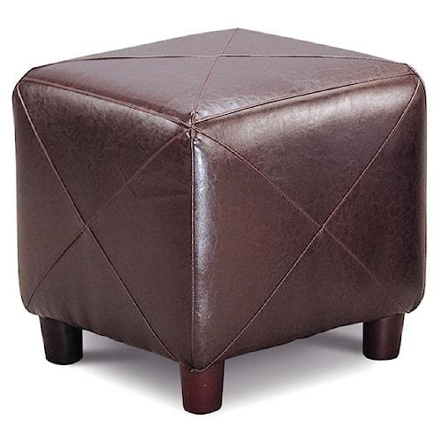 Coaster Ottomans Contemporary Faux Leather Cube Ottoman