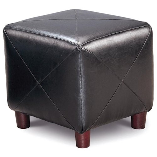 Coaster Ottomans Contemporary Faux Leather Cube Ottoman