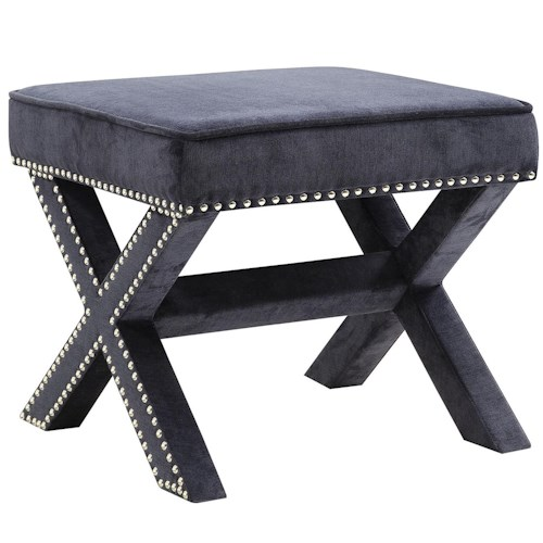 Coaster Ottomans Upholstered Ottoman With Nailhead Trim