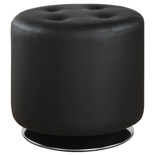 Coaster Ottomans Contemporary Circular Ottoman