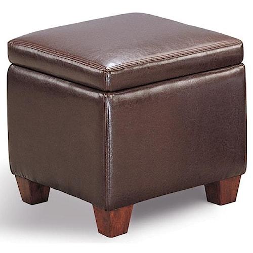 Coaster Ottomans Casual Faux Leather Storage Cube Ottoman