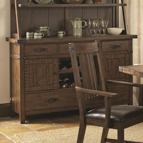 Coaster Padima Rustic Rough-Sawn Buffet with Wine Storage