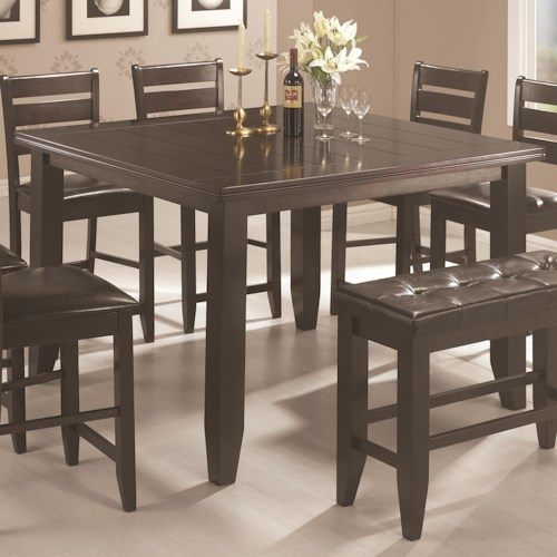 Coaster Page Contemporary Square Counter Height Leg Table