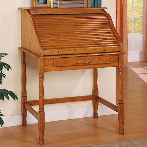 Coaster Palmetto Small Roll Top Secretary Desk