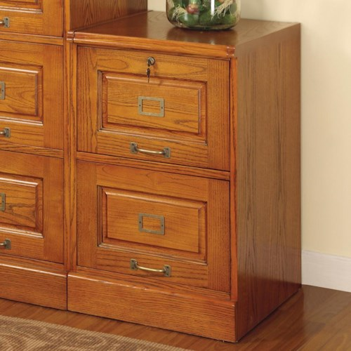 Coaster Palmetto Oak File Cabinet with 2 Drawers