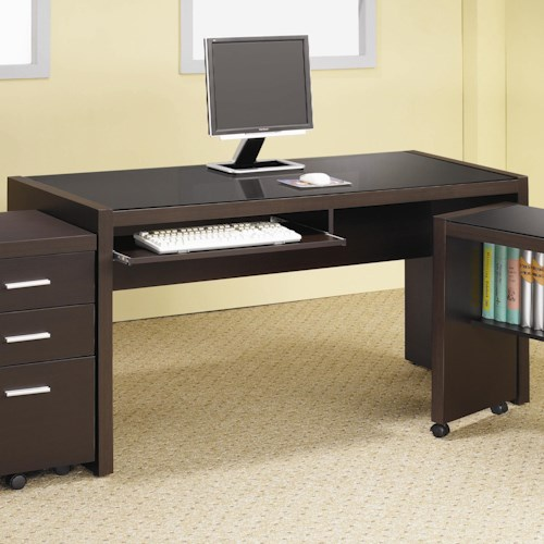 Coaster Skylar Computer Desk with Keyboard Drawer