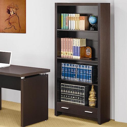 Coaster Skylar 4 Shelf Bookcase with Storage Drawer