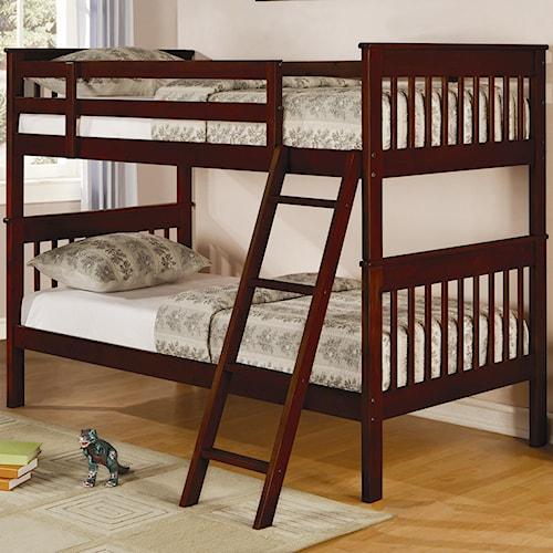 Coaster Parker Twin Slat Bunk Bed