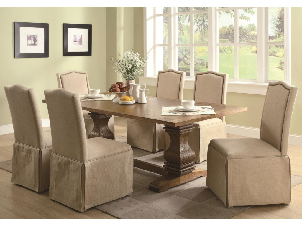 Shown with Skirted Parson Chairs
