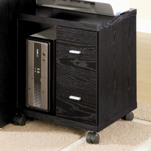 Coaster Peel 2 Drawer Computer Stand