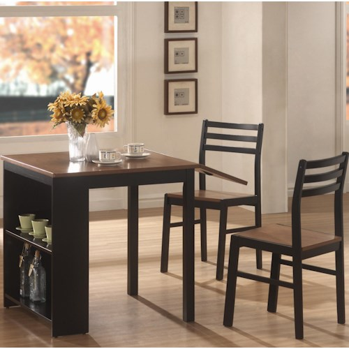 Coaster Persia Breakfast Table w/ 2 Side Chairs