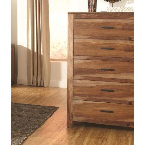 Coaster Peyton Chest of 5 Drawers with Rustic Hardware