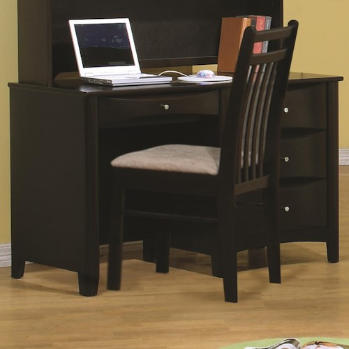 Coaster Phoenix Single Pedestal Desk w/ 3 Drawers