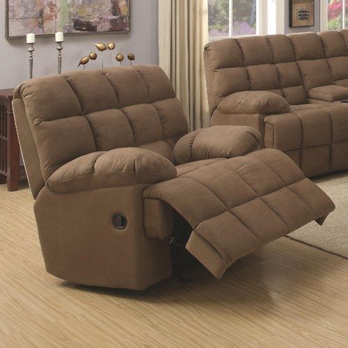 Coaster Pickett Glider Recliner with Casual Style