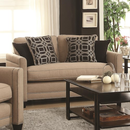 Coaster Pratten Loveseat with Transitional Style