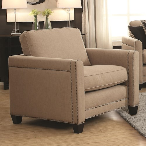 Coaster Pratten Chair with Transitional Style