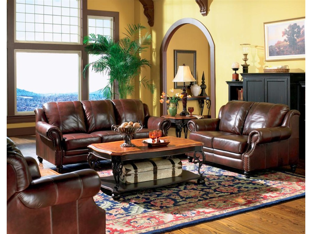 Shown in a Room Setting with Love Seat and Sofa