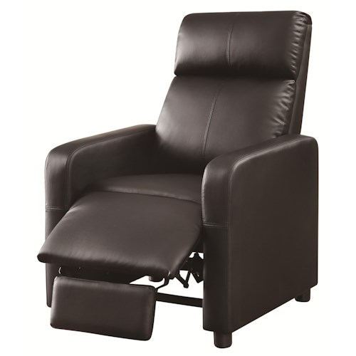 Coaster Recliners Theater Seating Push-Back Recliner with Contemporary Style