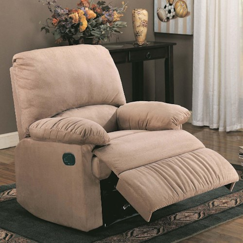 Coaster Recliners Microfiber Upholstered Glider Recliner