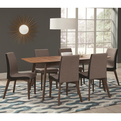 Coaster Redbridge 7 Piece Table & Chair Set with Leaf