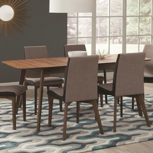 Coaster Redbridge Dining Table with Extension Leaf
