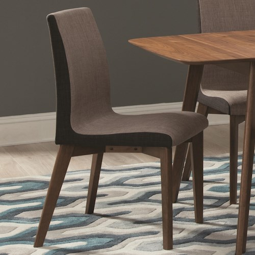 Coaster Redbridge Dining Side Chair with Curved Back