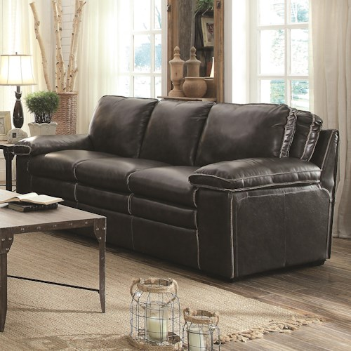 Coaster Regalvale Sofa in Leather Match Upholstery
