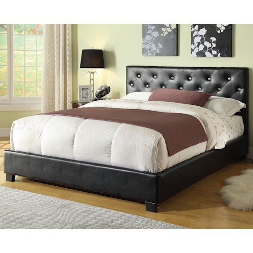 Coaster Regina Upholstered Full Bed with Button Tufting