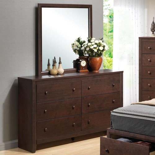 Coaster Remington Drawer Dresser w/ Mirror