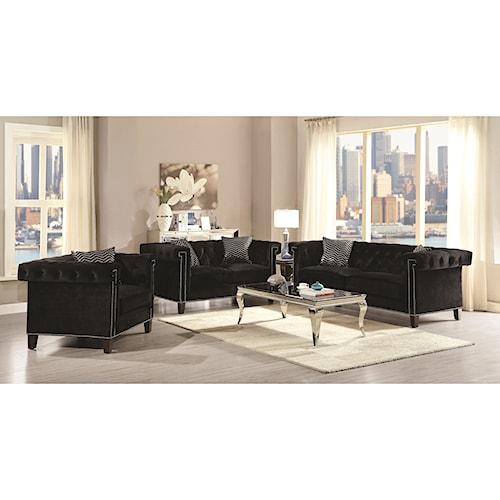 Coaster Reventlow Glamorous Living Room Group