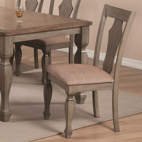 Coaster Riverbend Dining Chair in Antique Gray Finish