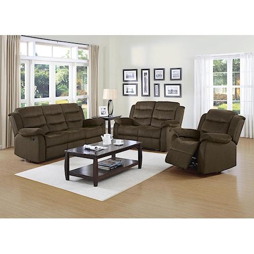 Coaster Rodman Reclining Living Room Group