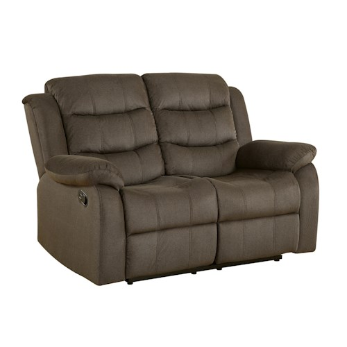Coaster Rodman Casual Motion Loveseat with Pillow Arms