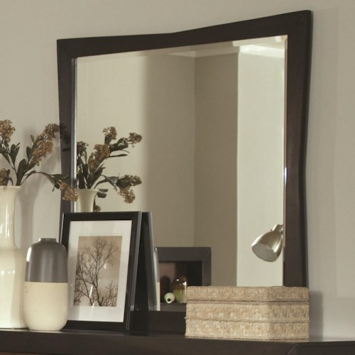 Coaster Rolwing Beveled Mirror with Wood Frame