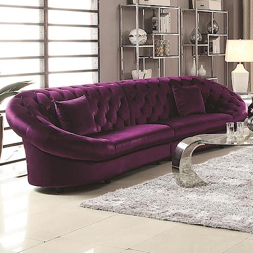 Coaster Romanus Mid-Century Modern Sectional Sofa