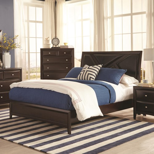 Coaster Rossville Queen Bed with Upholstered Headboard