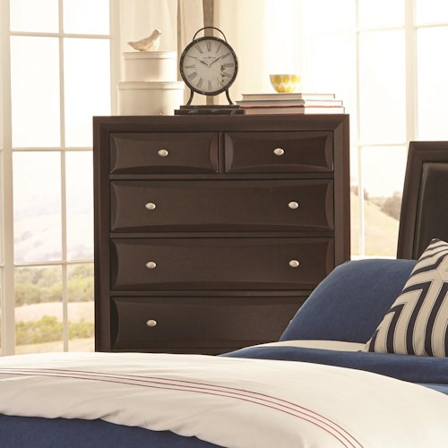 Coaster Rossville Chest of Drawers with Beveled Edges