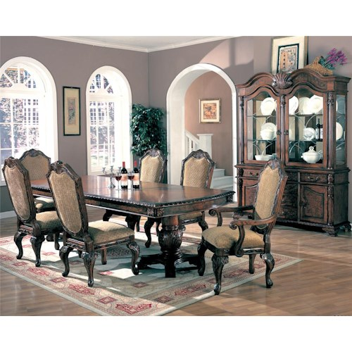 Coaster Saint Charles 7 Piece Dining Set
