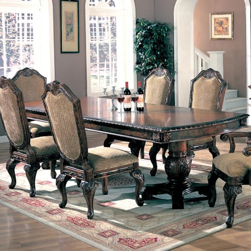 Coaster Saint Charles Dining Table with Double Pedestal
